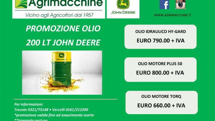 Promozione olio 200 LT John Deere